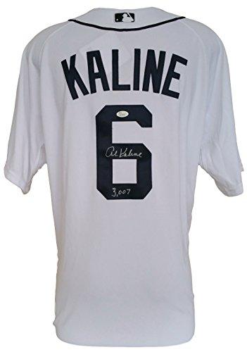 Al-Kaline-Signed-Detroit-Tigers-Majestic-White-Jersey-3007-JSA-100-Authentic-Autograph