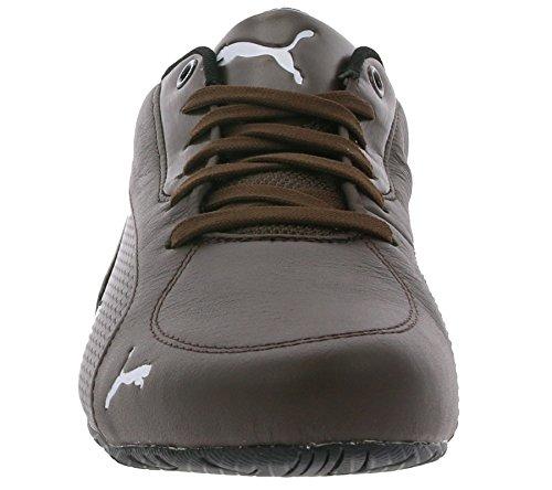 PUMA Drift Cat 5 Carbon Schuhe Herren Sneaker Turnschuhe Braun mit Niedrigprofil-Laufsohle, Größenauswahl:42.5