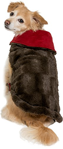 (Friends Forever Furry Brown Dog Jacket Coat Vest Cozy Winter Sweater Pet Cat Puppy Holiday Outwear Coat Apparel Extra Small)