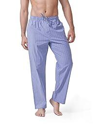 DAVID ARCHY Men's Cotton Pajama Pants Lounge Sleepwear Pajama Bottom