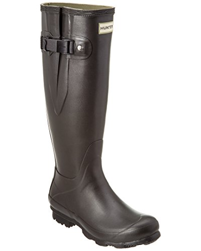 Hunter Campo De Norris Lado Señoras Ajustable Wellington Boot Slate