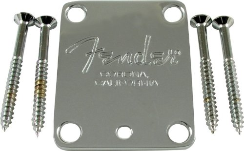 Neck plate, Fender® American Standard guitar, chrome (Fender Guitar Neck)