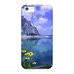 Durable mobile phone carrying covers Scratch-proof Protection Cases Covers Slim iphone 5 / 5s - daisies by a mountain lake hjbrhga1544