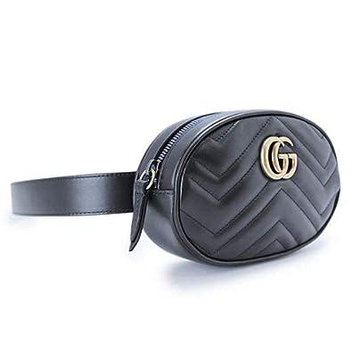 14571c9b182b Amazon | [グッチ] ベルトバッグ レディース GGマーモント キルティングレザー ブラック 476434 DSVRT 1000  [並行輸入品] | レディースバッグ・財布