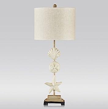Tischleuchte Mode Ideen Mittelmeer Muscheln Seestern Tischleuchte  Wohnzimmer Schlafzimmer Schreibtisch Nachttischlampe Dekorative Lampe  Knopfschalter