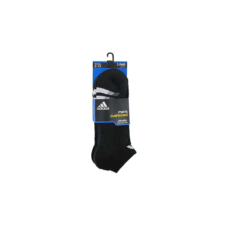Men's Cushioned No Show Socks (3 Pack)