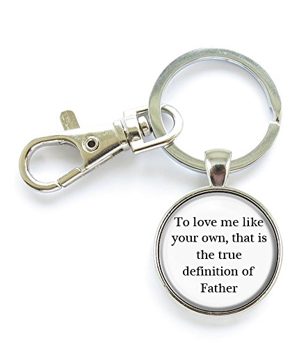 Father Gift Stepdad, Step Father to Love Me Like Your Own Pendant Keychain Key Ring