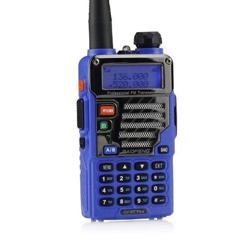 Baofeng Pofung GT-1 UHF 400 –  470 MHz FM Radio 50 CTCSS/105 CDCSS FM 1800 mAh baterí a recargable (naranja) UV-5R PLUS BLUE