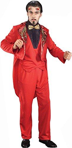 Men's Handsome Devil Tuxedo Costume, Red, Standard