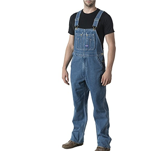 Walls Men's Big Smith Stonewashed Bib Overall, Stone Washed, 44/32