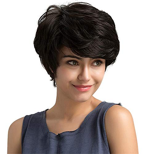 Little Story Real Remy Human Hair Topper Toupee Clip Hairpiece Lace Top Wig for Women Black