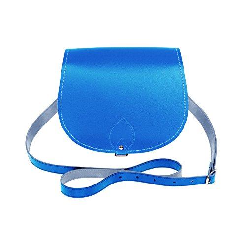 Azul Piel Hecho Mano Diseño A Solapa Zatchels Mujer Para Bolso De Con Alforja wqx64An7BO