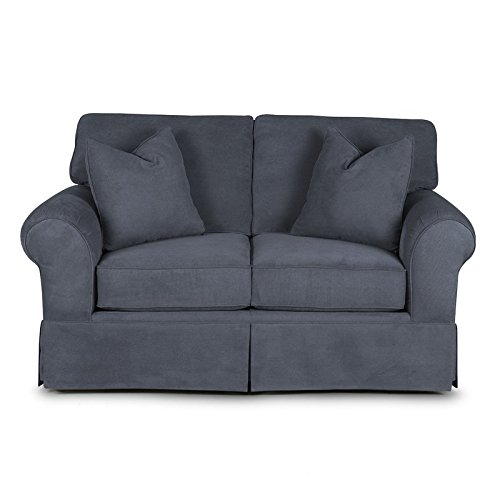 Klaussner 012013231401 Woodwin Loveseat, Gunmetal Fabric
