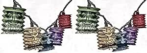 2 Strings of Paper Tiki Lantern Party String Lights Lighting