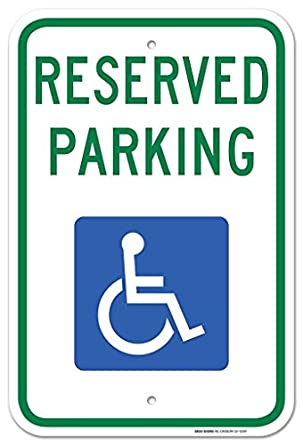 Handicap parking sign with picture of wheelchair federal 12x18 handicap parking sign with picture of wheelchair federal 12quotx18quot 3m prismatic engineer maxwellsz