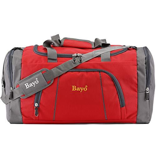 Bayo Waterproof Polyester Lightweight 50 L 20 inch Luggage Red Travel Duffel Bag