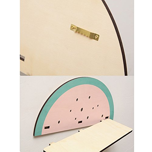 cheerfullus Watermelon Shape Wooden Storage Shelf Decorative Display Wall Hanging Children's Room Living Room Bedroom Wall Decoration by cheerfullus (Image #6)