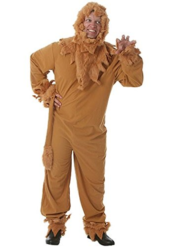Plus Size Cowardly Lion Mens Costume 2X (Cowardly Lion Costume Wizard Of Oz)