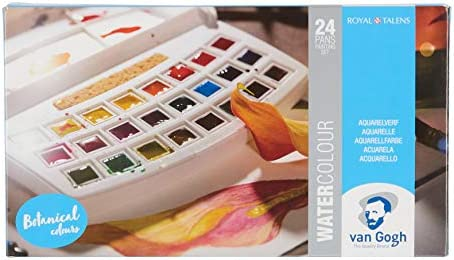 Van Gogh Watercolor Paint Set Half Pan Multicolored 20808623