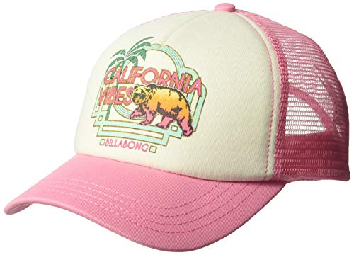 Billabong Girls' Girls' Cali Vibes Trucker Hat Tahiti Pink One - Girls Hat Trucker