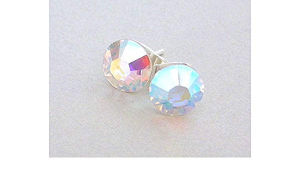 ON SALE Crystal AB Twist Earrings