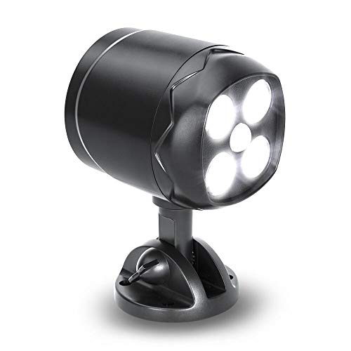 LED Motion Sensor light,YULAMP Motion Sensor Spotlight Wireless Battery-Operated Outdoor Wall Light 600 Lumen 4 LED Wireless Security Lights Waterproof for Patio, Garden, Garage, Path,Porch