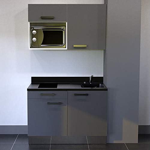 CUISIBANE Kitchenette K06 – 120 cm (con Tarjetero para microondas ...