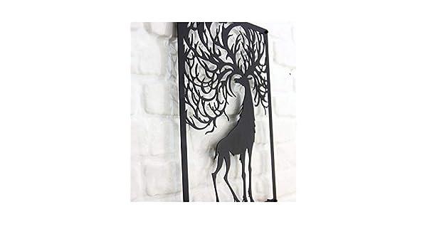 bb99518fe0 Amazon.com: Line Wall Art Metal Tree of Life Decor Portrait İn Animal  Figure: Home & Kitchen