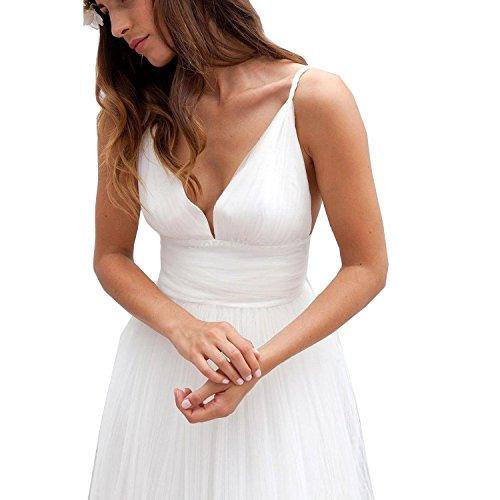 o Beige sera nozze linea abiti tulle Abaowedding una spiaggia festa lungo abiti da donne sposa vW6qP