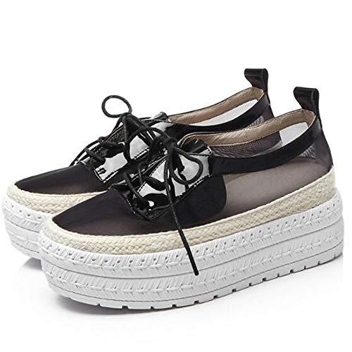 Sneakers Scarpe Nero pelle Punta in Comfort Creepers Rosa Nappa Verde chiusa ZHZNVX Pink Estate da donna Primavera 1w44zp