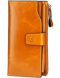 Itslife Women's RFID Blocking Large Capacity Luxury Wax...