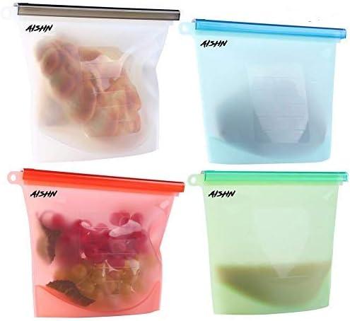 Amazon.com: AISHN - Bolsas de silicona reutilizables para ...