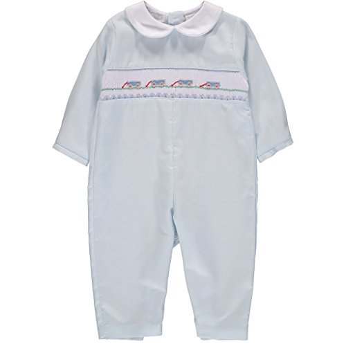Carriage Boutique Baby Boy Pastel Blue Long Sleeve Longall - Wagons, 3M