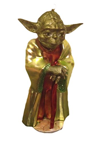 Star Wars Yoda Blown Glass Christmas Holiday Ornament Figure