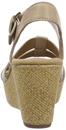 Clarks Caslynn Harp, Women's Wedge Heels Sandals Beige (Sand Leather)