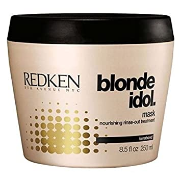 Redken Blonde Idol Mask Nourishing Rinse-Out Treatment For Damaged, Blonde Color-Treated Hair 250ml 8.5oz