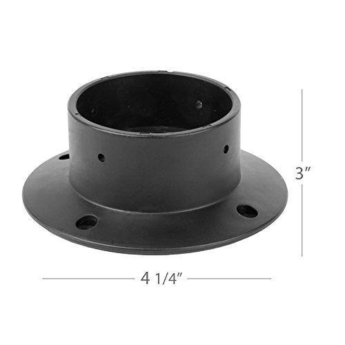 WAC Lighting 2000-CON-PVC WAC Landscape Accessories Concrete Pour Kit for 2'' Inground Indicator Light, Black
