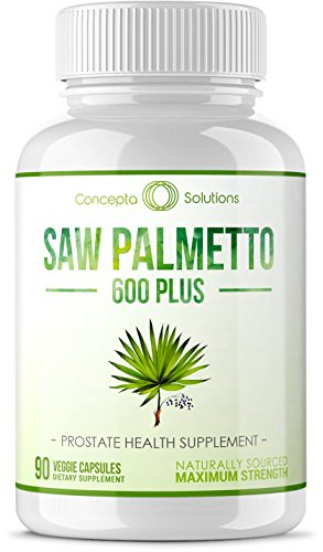 Saw Palmetto 600 Prostate Support – Plus Phytosterols for Healthy Urination Frequency, Prevent Hair Loss & Boost Immune System – Natural Supplement w/Phytosterol Blend & Vitamins B6 B12 D3 E – 90 Veg Review