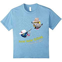 Kids Total Solar Eclipse August 21 2017 T Shirt by Good T-Shirts 8 Baby Blue