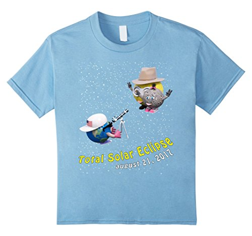 Price comparison product image Kids Total Solar Eclipse August 21 2017 T Shirt by GoodPrint 4 Baby Blue