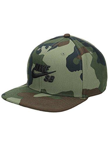 Nike Mens SB Pro Snapback Hat Medium Olive CAMO/Black