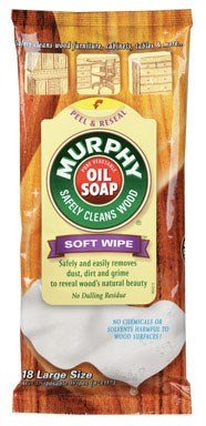Murphy Oil Soap Wipes Wood Cleaner, Original - 18 count (Pack of 12) by Murphy's