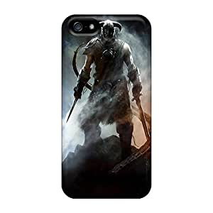 Great Cell-phone Hard Cover For Apple Iphone 5/5s With Unique Design Fashion Skyrim Series AlainTanielian