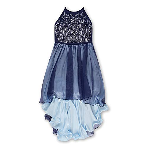 Speechless Big Girls 7-16 Two-Tone Party Dress with Full Skirt, Navy, 7