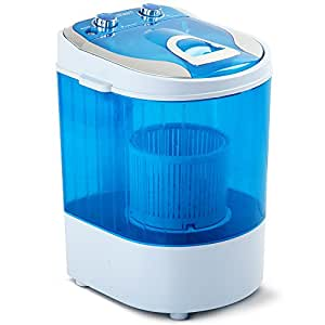 4KG Mini Portable Washing Machine Spin Dry 2 in 1 Top Load Camping Caravan Home
