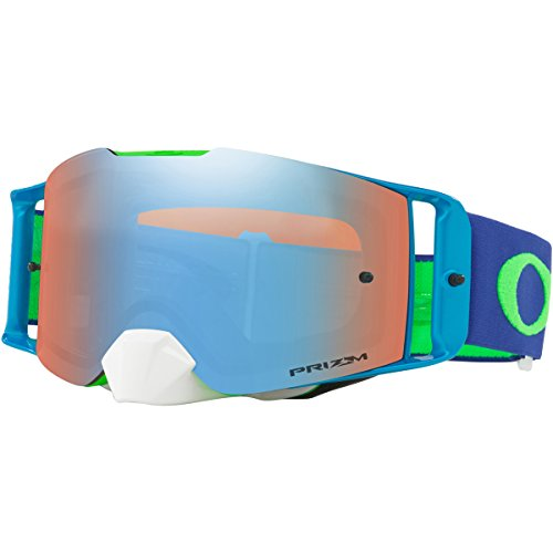 Oakley Front Line MX Blue Grn with Prizm MX Saphr unisex-adult Goggles (Green, Large), 1 - Oakley Design Latest