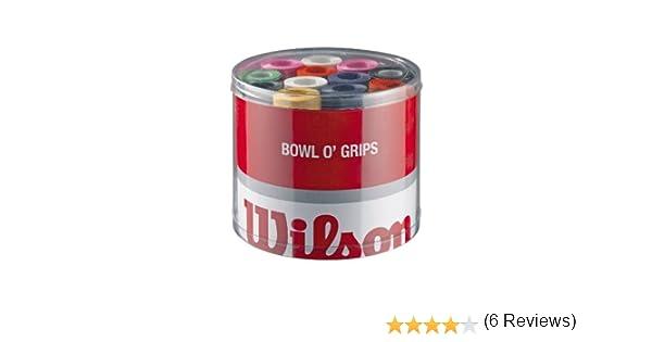 Wilson Z4710 Overgrip Bowl - Lote de Bandas Antideslizantes para Raquetas de Tenis (50 Unidades), Color Verde, Amarillo, Lila, Rosa, Naranja, Blanco y ...