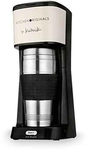 Tkg One Cup Coffee Maker With 420 Ml X Large Travel Mug Creme