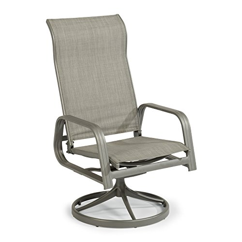 Daytona Gray Sling Swivel Rocking Chair by Home Styles (Aluminum Furniture Patio Cast Sling)