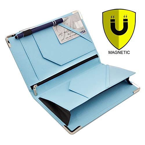 Coin Organizer Deluxe - Classic Deluxe Server Book with Magnetic and Zipper Pocket, Holds Guest Check Pad, Pen, Card, Receipts, Coins and Bills | Organizer for Waitstaff Waiter and Waitress